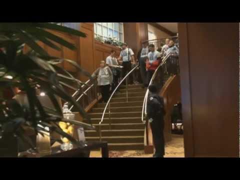 Protesting JP Morgan Chase CEO: at Hilton Hotel Portland 11.4.11