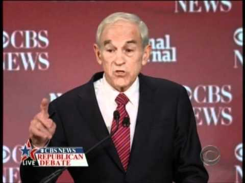 Ron Paul on torture CBS Republican Debate 11-12-11