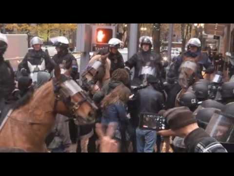 4. N17 Horse cops and pepperspray