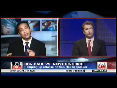 Rand Paul on CNN 12/09/11 RE: Ron and Newt - Video