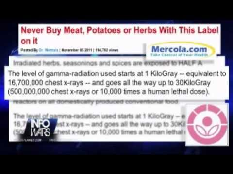 HIGH RADIATION IN MEAT AND POTATOES DO NOT EAT