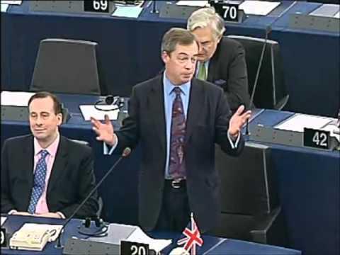 UKIP Leader Nigel Farage first speech to new President Schultz  Jan, 2012