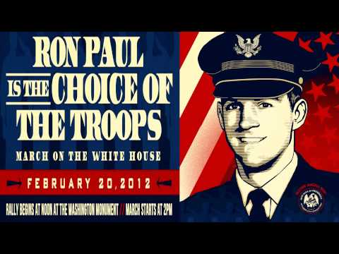Ron Paul Veterans March On The White House Feb. 20th 2012