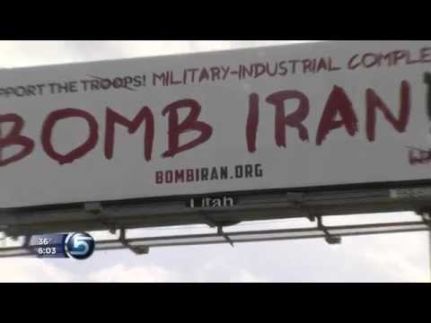 "Creator Explains Message Behind ""Bomb Iran"" Billboard"