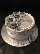 Zilveren taart