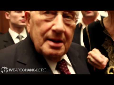 War Criminal Henry Kissinger confronted on Bilderberg and Mass Murder  -We Are Change