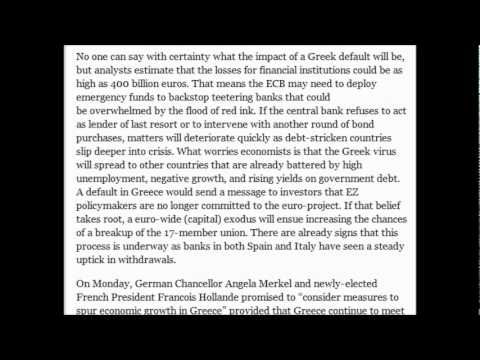 The Plan to Kick Greece Out of the Eurozone (June 16, 2012)