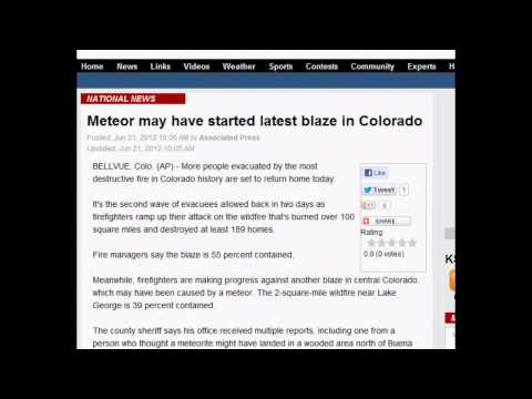 Meteor May Have Started Latest Blaze in Colorado [Police Audio] - June 21, 2012