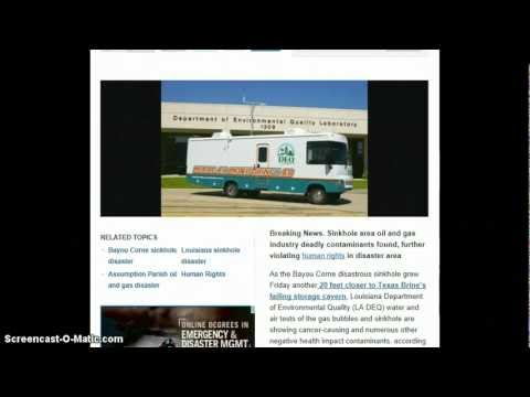 ALERT - Deadly Contaminants Found At Louisiana Sinkhole!