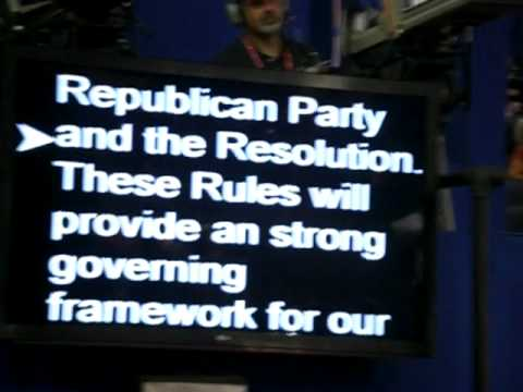 The Republicans' 2012 Teleprompted Convention Part 2