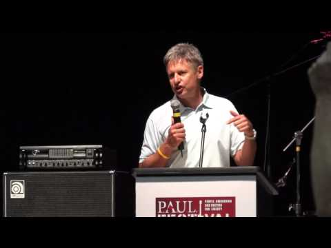 Libertarian Prez Candidate Gary Johnson's Speech At PAUL Fest