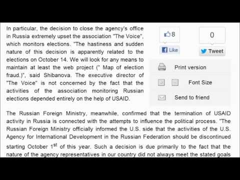 Russia kicks out  U.S. AID shows them door. US insulted and humiliated (September 25, 2012)