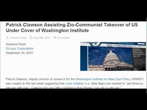 Patrick Clawson Assisting Zio-Communist Takeover of US Under Cover of Washington Institute