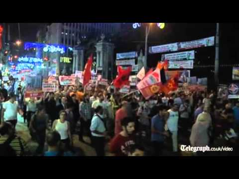 Protests in Turkey over Syria mandate