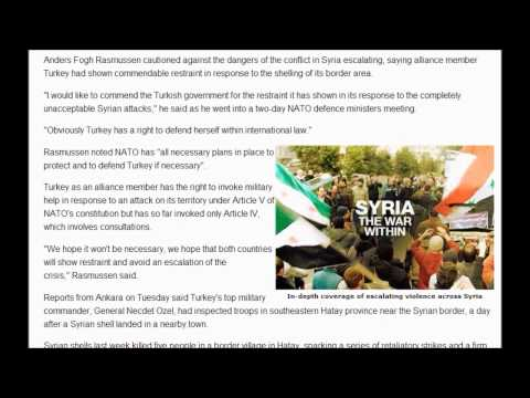 NATO Now Backing Turkey : Turkey sends fighter jets to Syrian border (October 9, 2012)