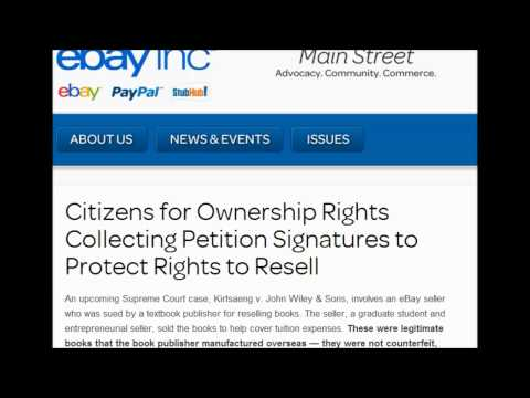 Share : Ebay Warning US SUPREME COURT CASE MAY AFFECT YOUR RIGHTS—ACT NOW