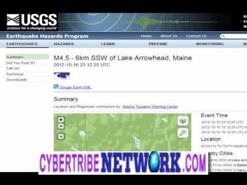 4.5 EARTHQUAKE IN MAINE!!!! LAKE ARROWHEAD WOW