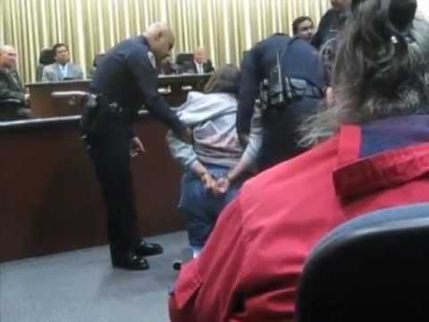 Speaker Handcuffed at Riverside City Council Meeting