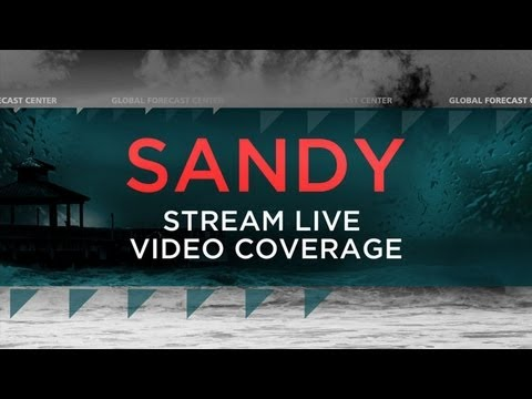 LIVE Hurricane Sandy Coverage - The Weather Channel
