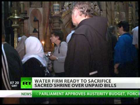 Unholy late fees: Jerusalem's Holy Sepulchre to close over unpaid water bill?