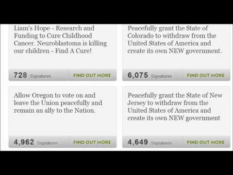 Petitions 20 States Now, Peacefully grant the State's withdraw from the United States of America