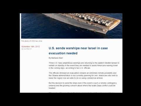 U.S. sends warships near Israel in case evacuation needed : Just In Case (November 20, 2012)