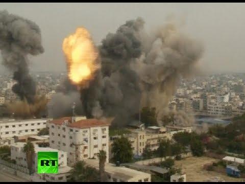 Video: Heavy shelling of Gaza following Tel Aviv bus attack