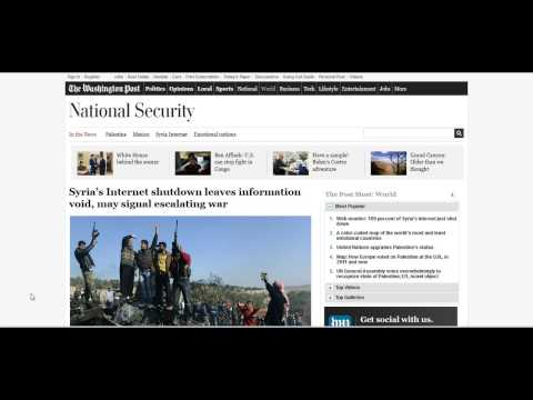 Syria Has All Internet & Communications Shut Down (30th Nov 2012)