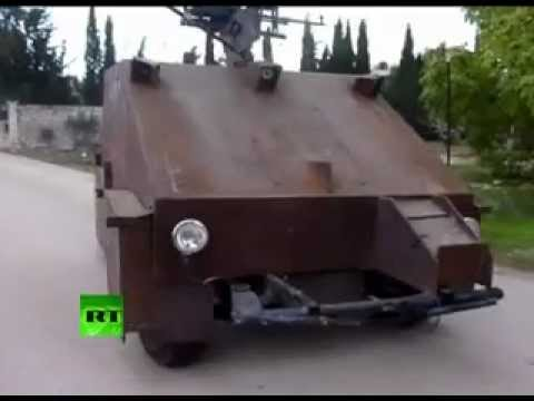 LOL I WANT ONE : Syria rebels unveil cutting-edge homemade tank.
