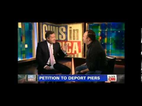 Peirs Morgan Vs Alex Jones - The Gun Debate