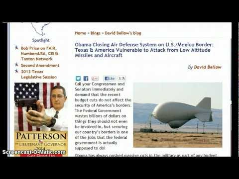 "Obama ""HIGH TREASON"" Closing Air Defense System On Mexican Border~ Selling Energy & Land to China"