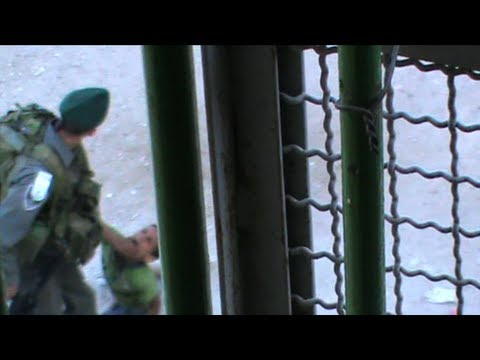 Israeli Troops Filmed Kicking A Palestinian Child - Raw Footage