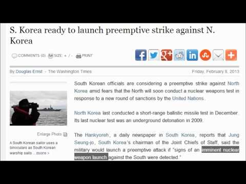 S. Korea ready to launch preemptive strike against N. Korea because of fear of a nuclear Attack