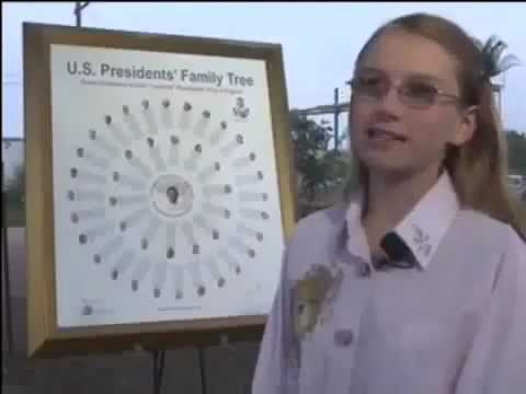 12 yr Girl Discovers ALL U.S. Presidents (except one) related to one British King