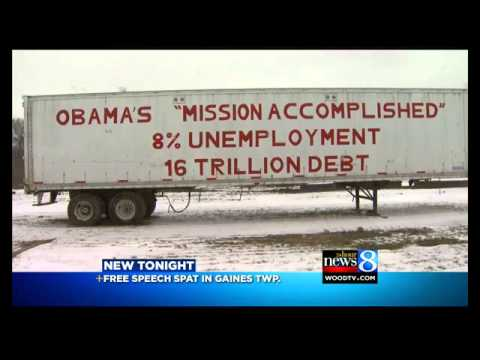 Farmer Under Attack For Signs On Semi Trailers Criticizing Obama [Youtube Wants This Video Removed]