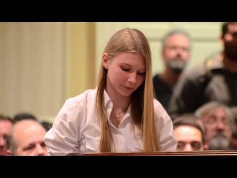15 year old girl leaves anti-gun politicians speechless
