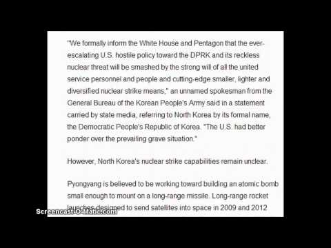 North Korea warns military cleared to wage nuclear attack against US.