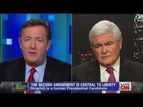 Newt Gingrich vs. Piers Morgan on Gun Control Debate - 1-24-13