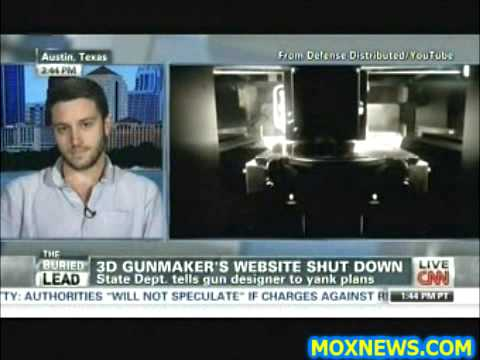 Cody Wilson Responds To Congress Shutting Down Website With 3D Printer Gun Designs