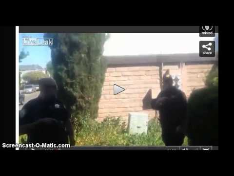 Cotati California Police Brutality. Break into private residence and taze person filming.