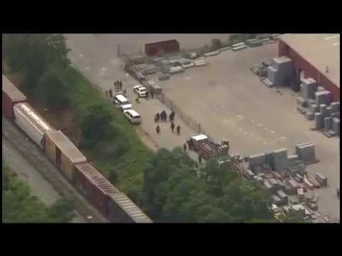 Raw Video Footage + Local News Clips of Baltimore Train Derailment
