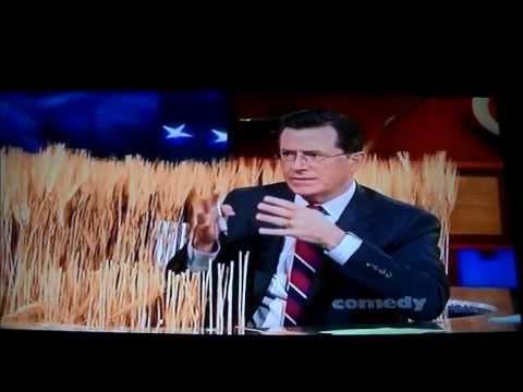 Stephen Colbert Talks About Monsanto Wheat With Laurie Garrett