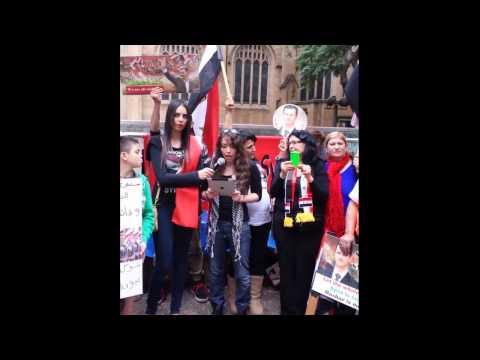 Syrian Girl Rally Speech - Hands of Syria 15 June 2013