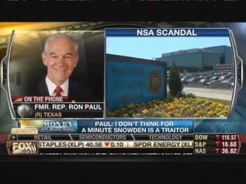 Ron Paul 'Worried' U.S. Might Kill Snowden With Drone
