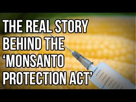 The Real Story Behind the 'Monsanto Protection Act'