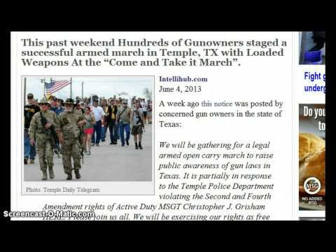 "Armed March in Texas! Hundreds Show Up with Loaded Guns at the ""Come & Take It"" March!"