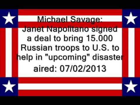 Michael Savage: Janet Napolitano Deal Bringing 15,000 Russian Troops to U.S. to Help in Disasters