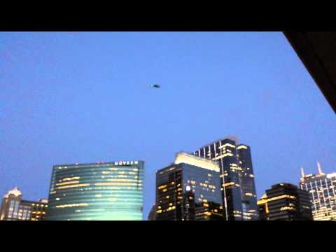 Military helicopters over Chicago July 23 2013