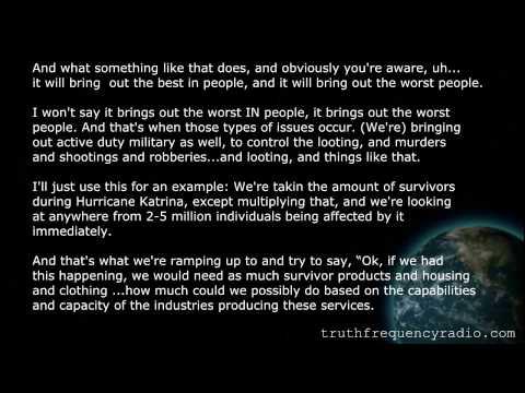 FEMA INSIDER SPEAKS ABOUT FEMA BUYING SURVIVALIST SUPPLIES - AUGUST 2013