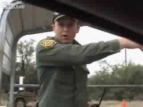 Border Checkpoint Officer vs Young Woman in Car..'it's none of our Business'